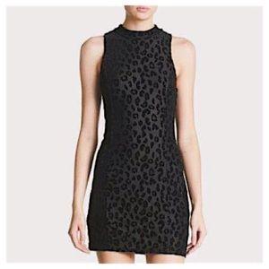 cddc28064 Astr Dresses - ASTR Velvet Leopard Print Burnout Bodycon Dress